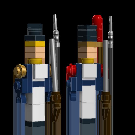 """2. Вольтижер и гренадер Польского легиона. Деталь """"отвертка"""" использована в качестве штыка."""