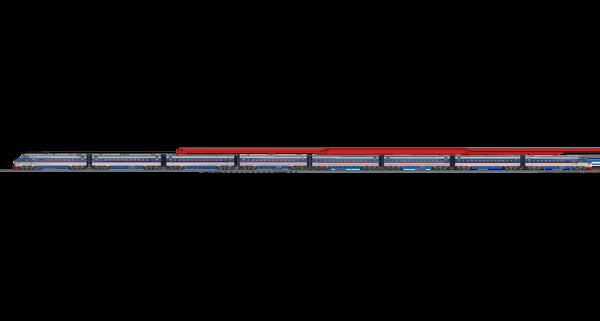 3. вид сбоку, представлен восьми вагонный состав
