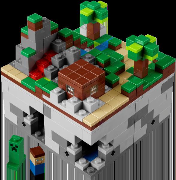 На LEGO World представлен набор 21102 Minecraft Micro World